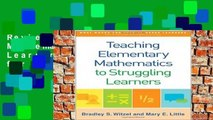 Review  Teaching Elementary Mathematics to Struggling Learners (What Works for Special-Needs