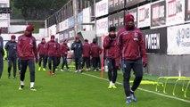 Trabzonspor, Beşiktaş maçı hazırlıklarını sürdürdü - TRABZON