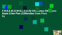 F.R.E.E [D.O.W.N.L.O.A.D] CliffsNotes EMT-Basic Exam Cram Plan (Cliffsnotes Cram Plan) by