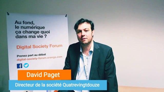 Les opportunités et les risques sous-jacents au numérique ont été évoqués ce soir - David Paget