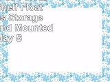 DELEX Set Of 4 Floating Wall Shelf Floating Shelves Storage Lounge Round Mounted Display