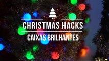 Truques de Natal: caixas brilhantes
