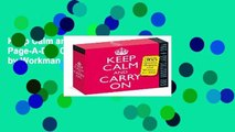 Keep Calm and Carry on Page-A-Day Calendar 2019 by Workman Publishing