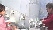 यूपी के सरकारी स्कूल में मिड-डे-मील के बाद बच्चों से धुलवाए गए बर्तन, देखें वीडियो