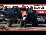 Bella Hadid poses on windmill in California | SWNS TV