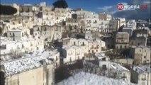 Puglia neve su Gargano e Murgia, grandine nel brinisino