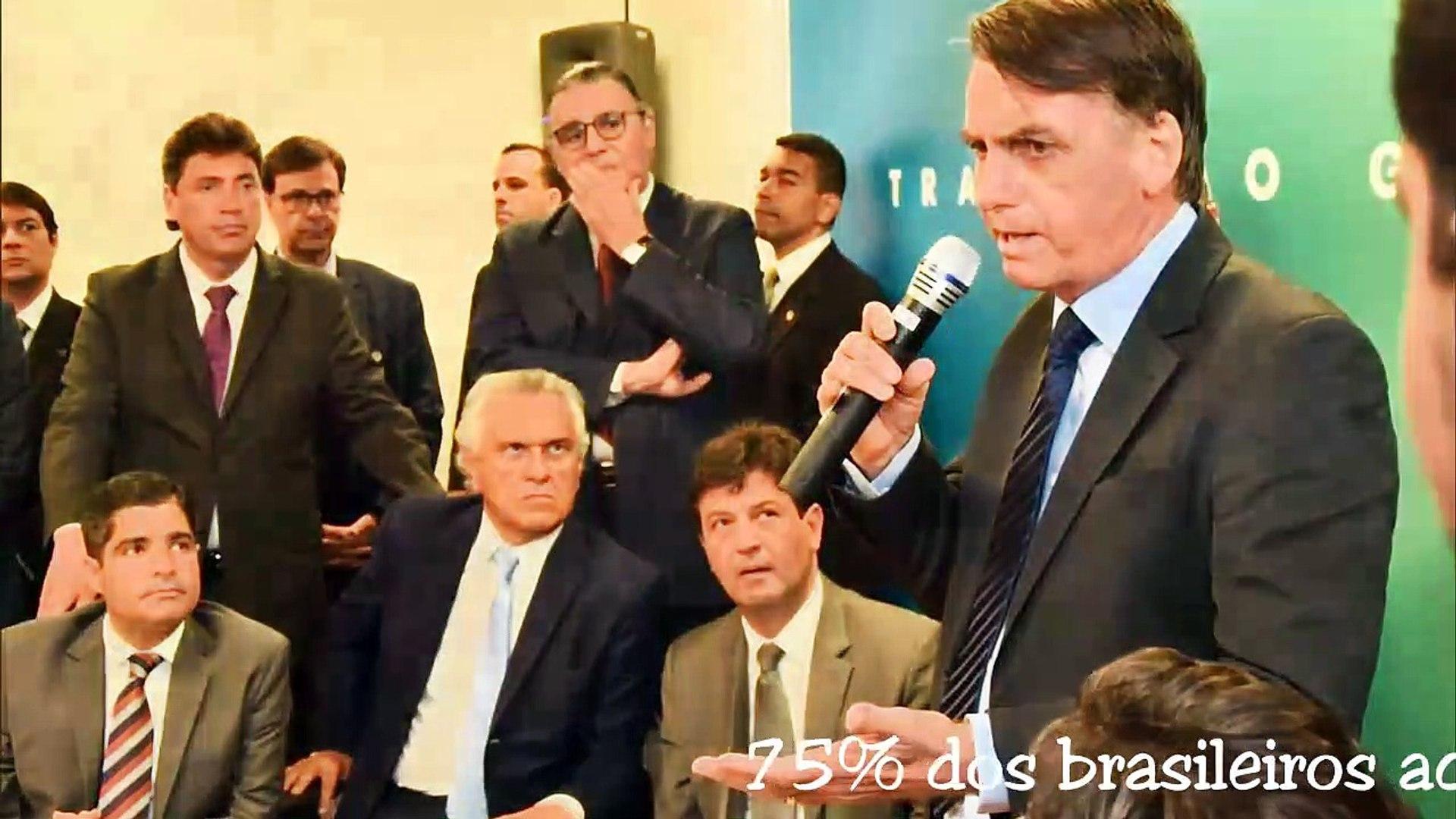 75% dos brasileiros acreditam que Bolsonaro está no caminho certo, diz Ibope