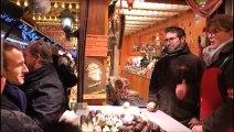 Emmanuel Macron au marché de Noël de Strasbourg, trois jours après l'attentat