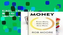 K I N D L E  U N L I M I T E D  Money  Know More, Make More, Give More  Learn how to make more