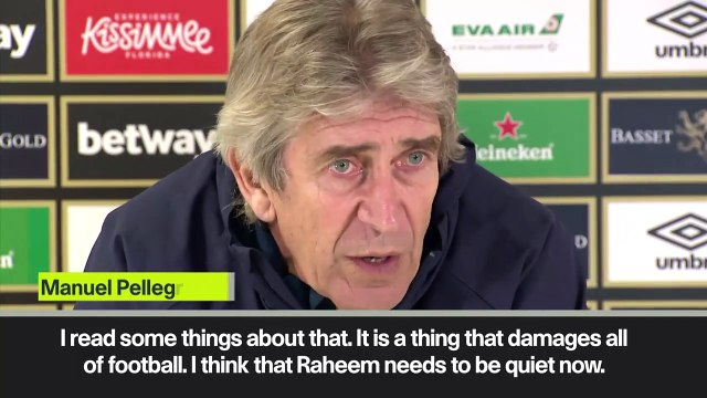 Eng Sub: 'Raheem Sterling abuse is stupid' - Pellegrini condemns abuse of Man City star