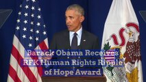 Barack Obama Receives RFK Human Rights Ripple of Hope Award