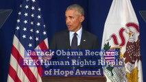Barack Obama Receives RFK Human Rights Ripple of Hope Award