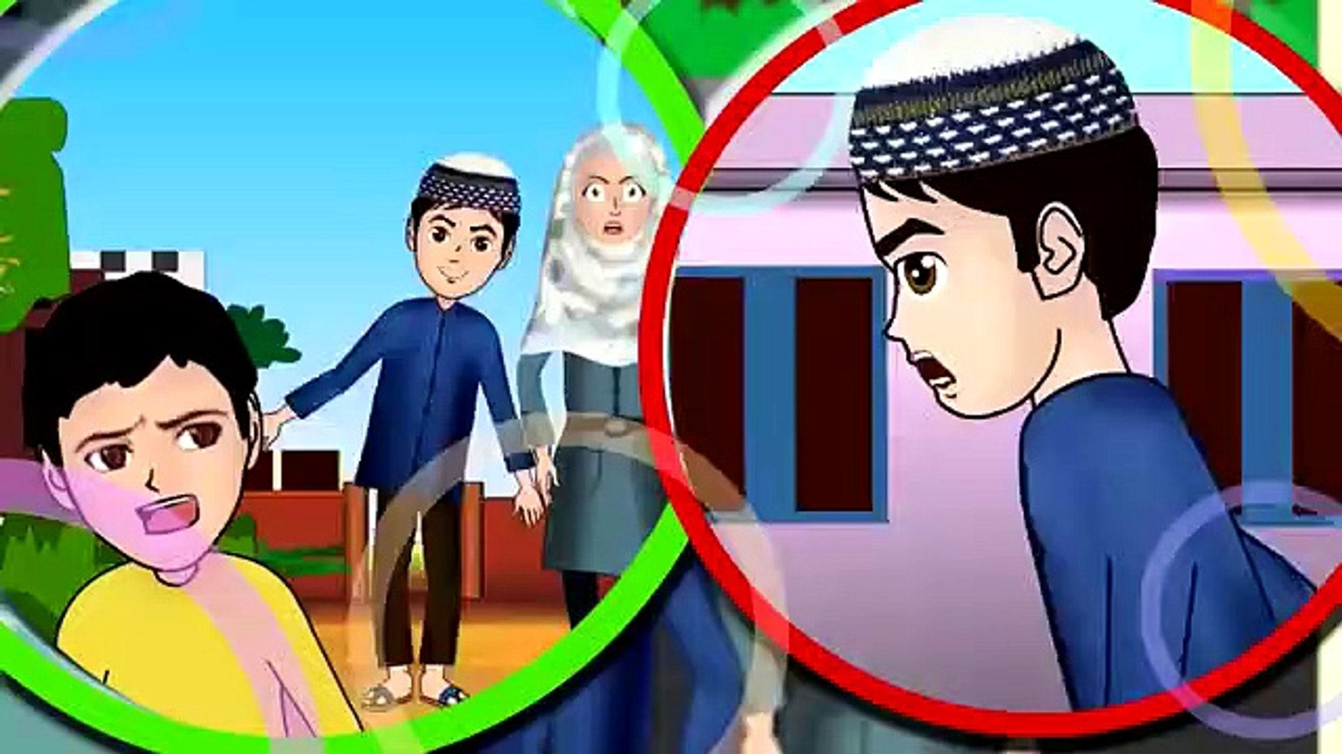 Angry Abdul Bari with friends Urdu Islamic Cartoons for children
