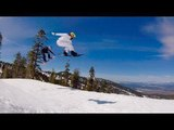 Incredible Snowboarding Couple Performs Tricks Around Lake Tahoe