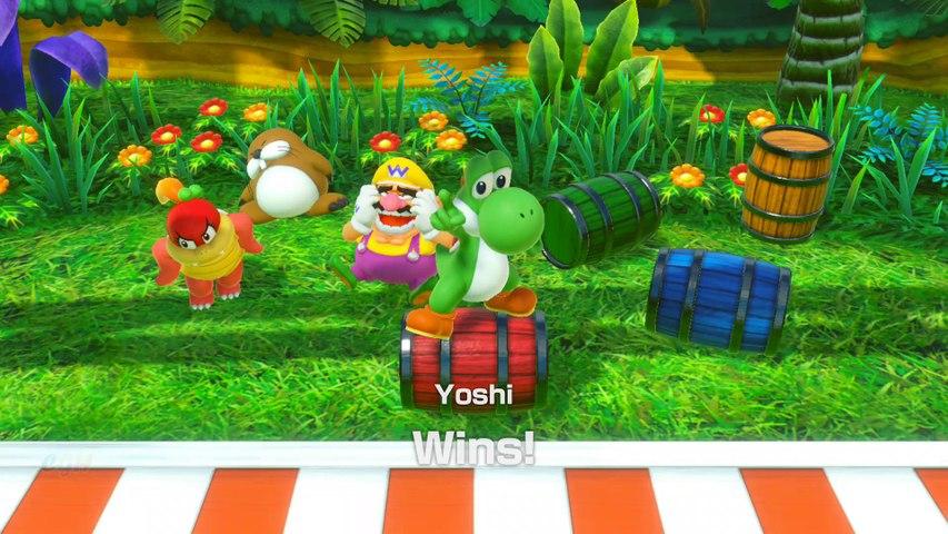 Super Mario Party Minigames Gameplay Square Off #4
