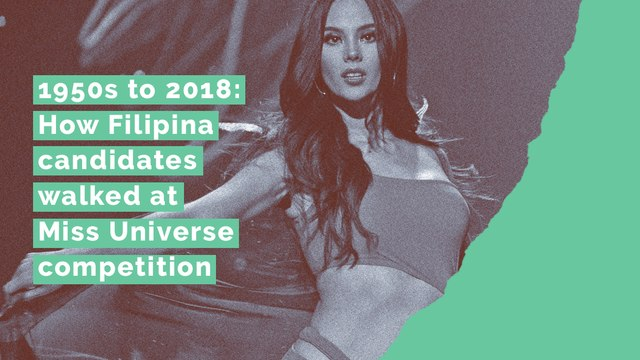 1950s to 2018: How Filipina candidates walked at Miss Universe competition