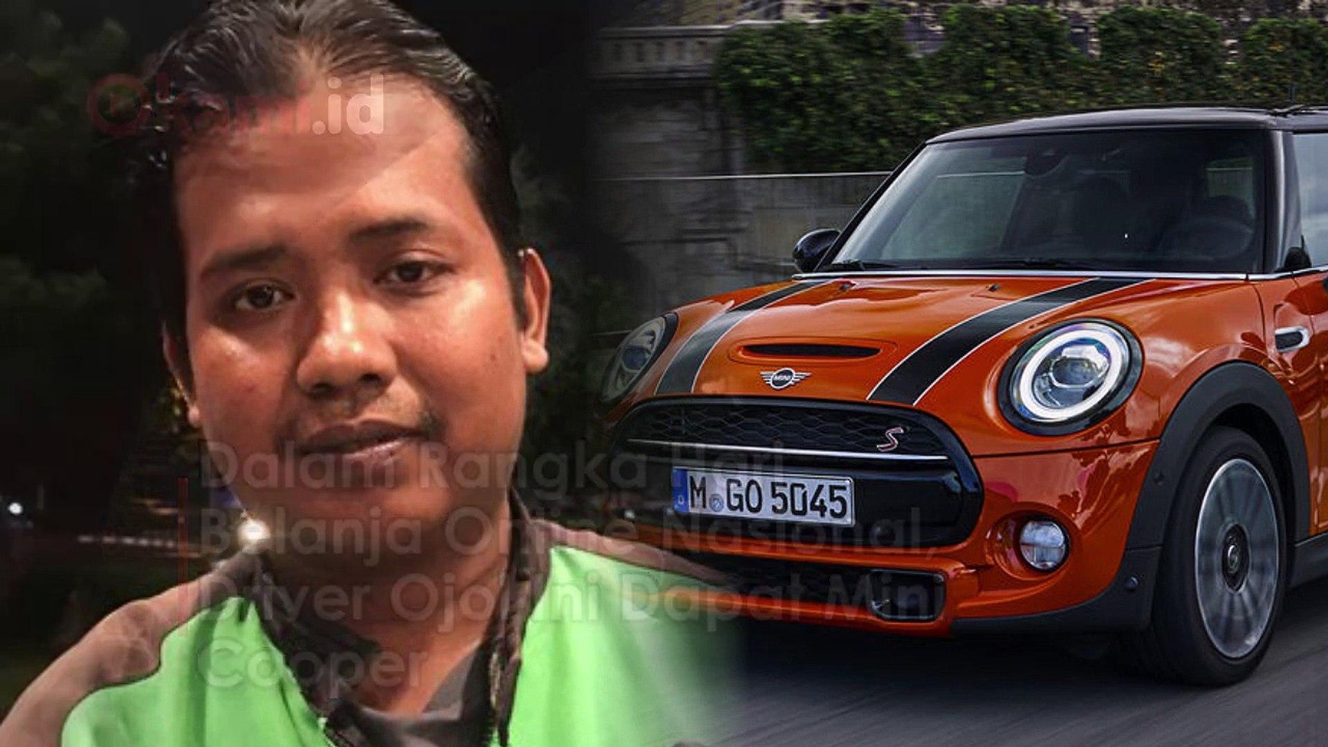 Dalam Rangka Hari Belanja Online Nasional, Driver Ojol Ini Dapat Mini Cooper