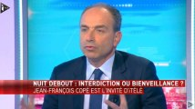 """Méprisant et déconnecté, Copé est """"choqué"""" par Nuit Debout sur iTELE"""
