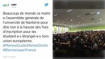 Blocage reconduit à l'université de Paris-Nanterre au terme d'une assemblée générale tendue.