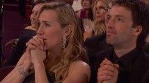 Oscar de DiCaprio : la réaction de Kate Winslet, en larmes, est touchante
