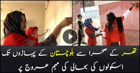 Sar-e-Aam's volunteers renovation public schools across the country