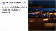 Marseille : un jeune homme de 20 ans tué de plusieurs coups de couteau, un suspect arrêté.