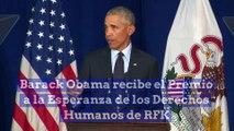 Barack Obama recibe el Premio a la Esperanza de los Derechos Humanos de RFK
