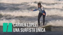 Carmen López, una surfista única en España