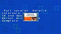 Full version  Solaris Internals: Solaris 10 and OpenSolaris Kernel Architecture Complete