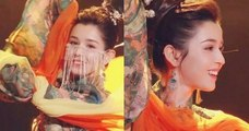 Chinese girl performing dance on TV show goes viral for her perfect beauty behind the veil