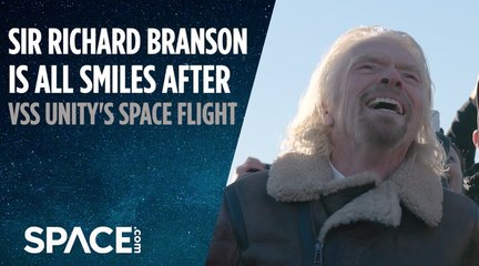 Sir Richard Branson is All Smiles after SpaceShipTwo's Space Flight