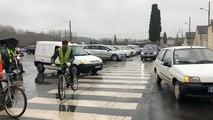 Manifestation et minute de silence par les Gilets jaunes à Sablé-sur-Sarthe