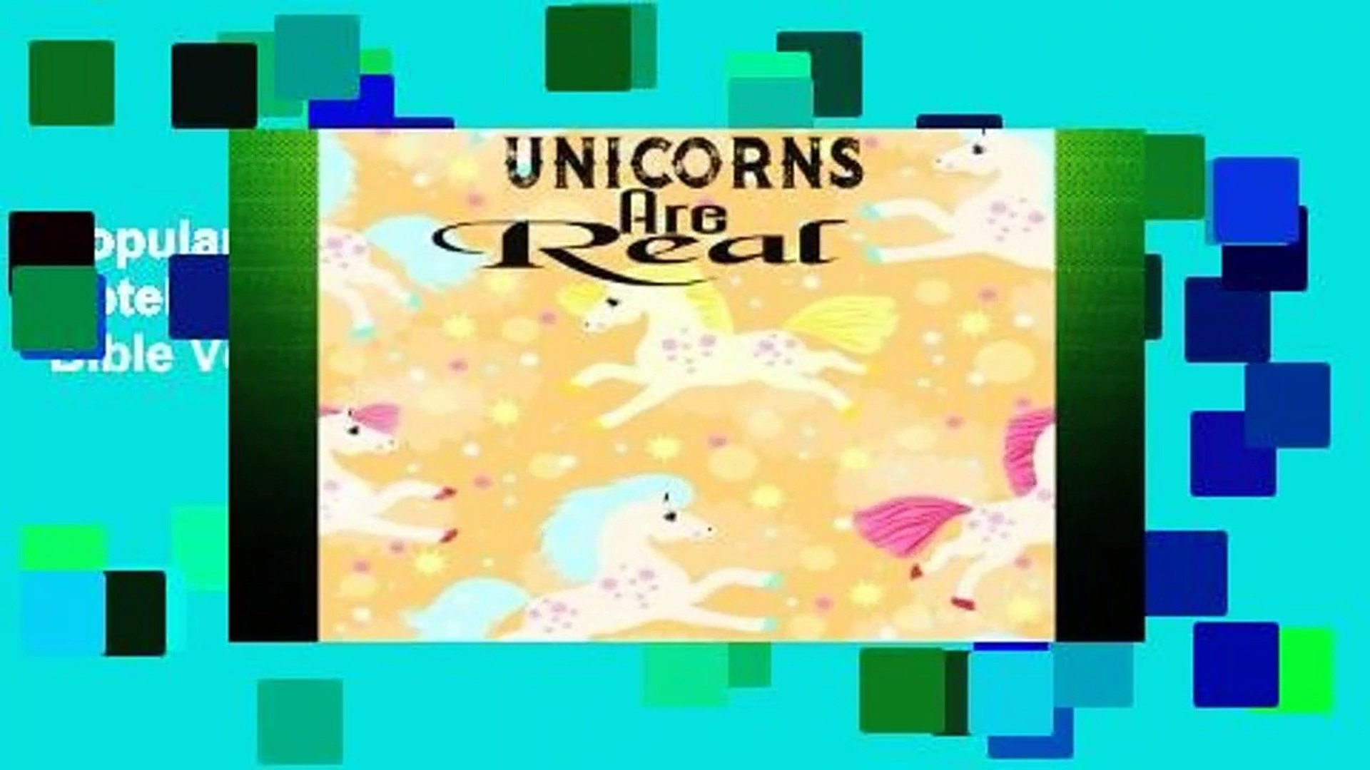 Popular Unicorns Are Real: Unicorn Journal Notebook Quotes Notebook ,Quotes Journal, Bible Verse