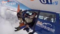 La plus vieille personne à sauter en parachute (Record Guinness)