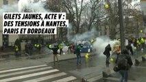 Gilets jaunes, acte V : des tensions à Paris, Nantes et Bordeaux