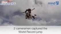 Une mamie saute en parachute - record de la plus vieille parachutiste