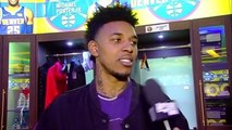 Nick Young After Scoring First Points as a Nugget
