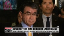 Japan softens tone toward S. Korean court rulings on WWII forced labor victims