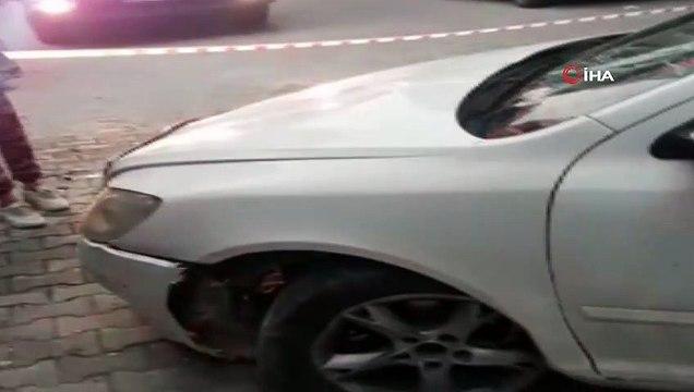 Otomobiliyle ara sokakta takla atan sürücü kaza sonrası olay yerinden kaçtı