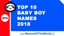 Top 10 baby boy names 2018 - the best baby names - www.namesoftheworld.net