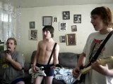 Funny...The guys having fun playing Rock Band