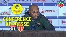 Conférence de presse Olympique Lyonnais - AS Monaco (3-0) : Bruno GENESIO (OL) - Thierry HENRY (ASM) / 2018-19