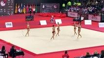 Histórico Quinto puesto de Sakoneta en el Campeonato de España de Gimnasia Rítmica