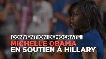 """Convention démocrate : Michelle Obama n'a """"confiance qu'en Hillary Clinton"""""""