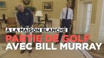 Bill Murray joue au golf avec Barack Obama dans le bureau ovale