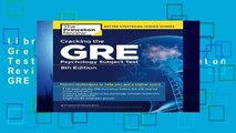 Library  Cracking The Gre Psychology Subject Test, 8Th Edition (Princeton Review: Cracking the GRE
