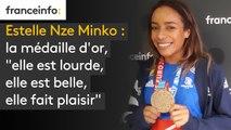 """Estelle Nze Minko : la médaille d'or, """"elle est lourde, elle est belle, elle fait plaisir"""""""