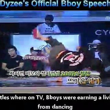 First Bboy (Breakdance) Commissioner  Speech