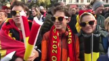 Les supporters des Red Lions sur la Grand-Place de Bruxelles