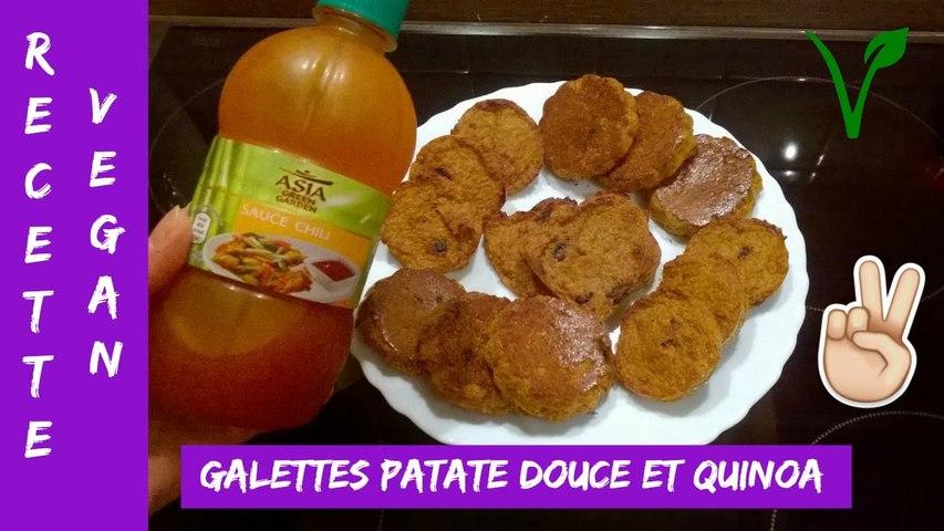 Recette 5 - Galettes à la patate douce et au quinoa VEGAN (8 janvier 17)